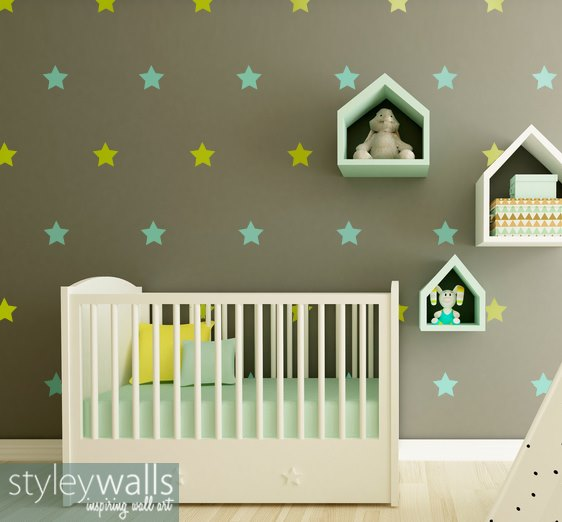 Large Stars Wall Decal Set