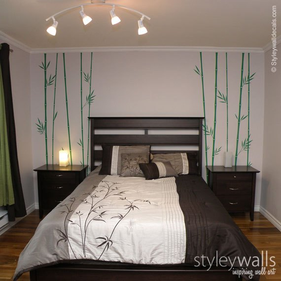 Bamboo Bedroom Decal