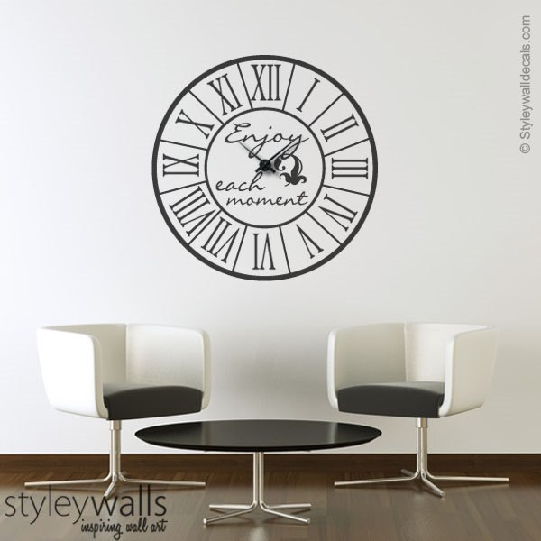 Clock Wall Decal Roman Numbers