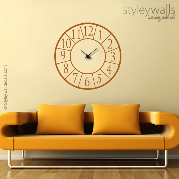 Modern Clock Decal