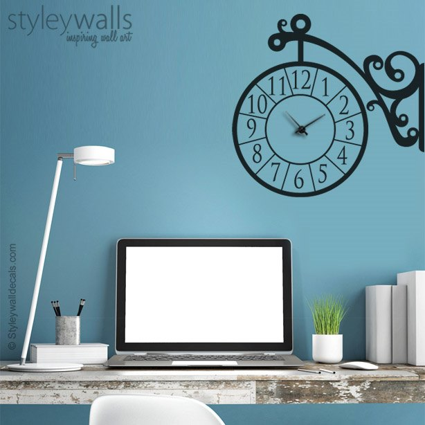 Corner Clock Wall Decal