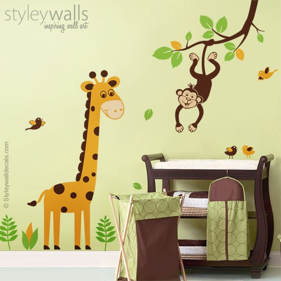 Giraffe and Monkey