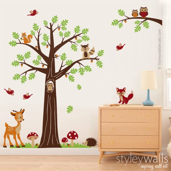 Woodland Tree and Animals