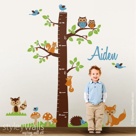 Forest Animals Tree Growth Chart