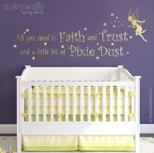 Pixie Dust Fairy Vinyl Lettering