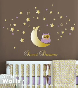 Sweet Dreams Owl and Moon
