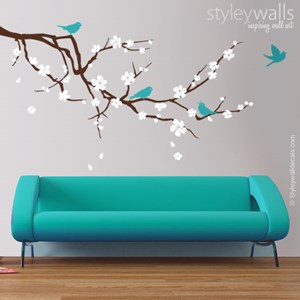 Almond Branch and Birds
