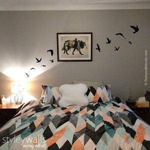 Flying Birds Bedroom Decal