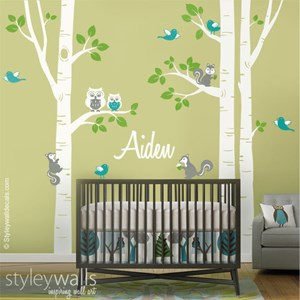 Birch Trees and Animals