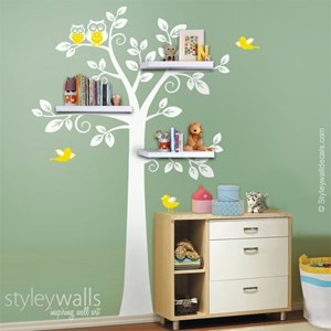 Shelves Tree Birds and Owls