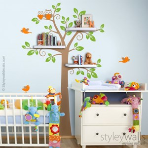 Shelving Tree Birds and Owls